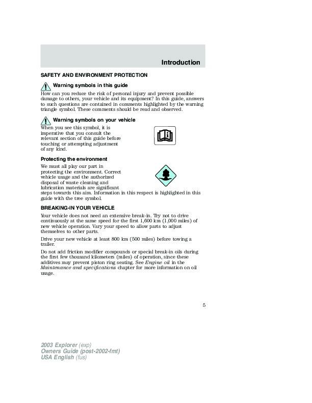 2003 ford explorer owners manual rh filemanual com ford explorer 2003 xlt owners manual 2003 ford explorer owners manual online