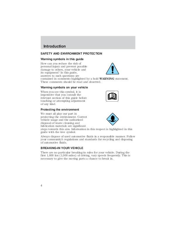 2003 Mazda Tribute Owners Manual