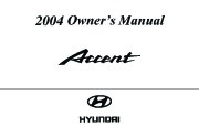 2004 Hyundai Accent Owners Manual page 1