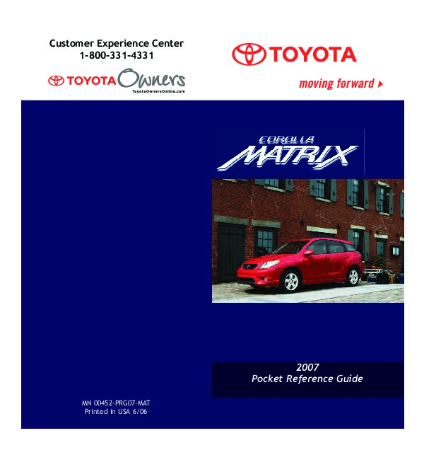 matrix owners manual