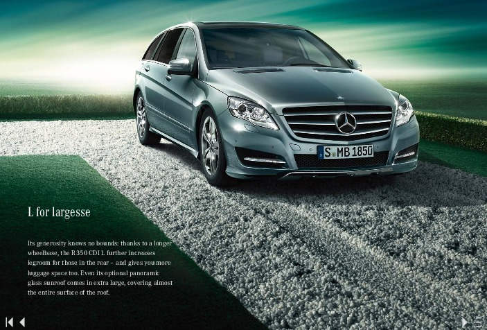 2011 Mercedes Benz R Class R300 Cdi R350 Cdi V251 Catalog Uk