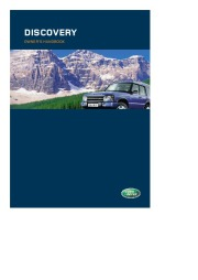 Land Rover Discovery Owners Manual, 2005 page 1