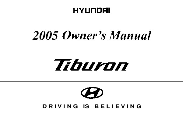 Hyundai Tiburon Repair Manual Online
