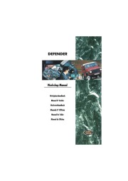 1996 Land Rover Defender Worshop Manual 300 Tdi page 1