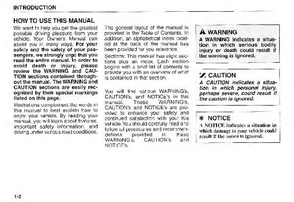 2005 kia sorento owners manual
