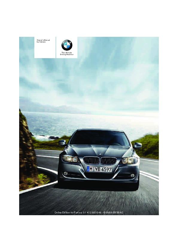 2010 bmw 3 series owners manual sports wagon rh auto filemanual com BMW 3 Series Engine Diagram 2010 bmw 3 series sedan owners manual