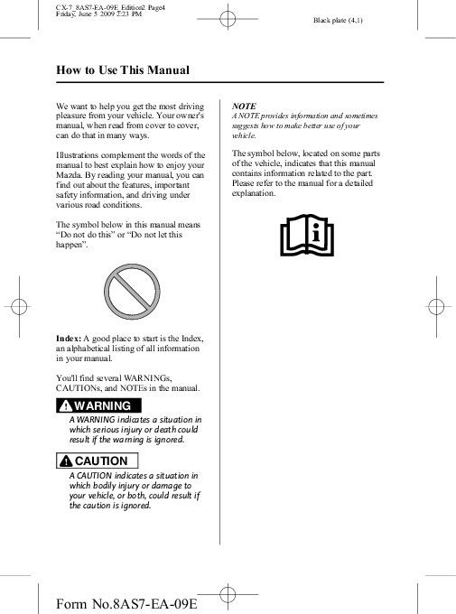 2010 mazda cx 7 manual
