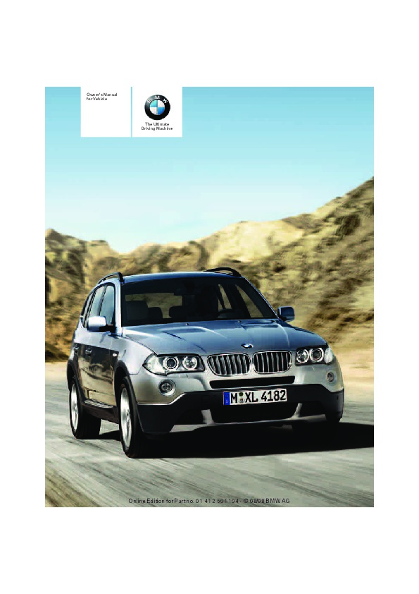 2009 bmw x3 xdrive28i xdrive30i e83 owners manual rh filemanual com 2012 X3 2009 X5 M Sport Package Side by Side