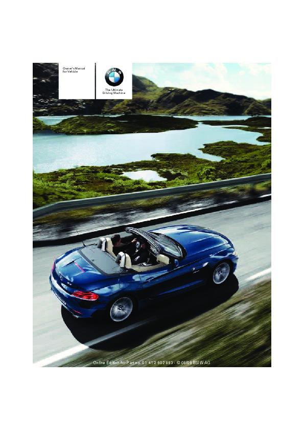 2010 bmw z4 e89 sdrive30i sdrive35i owners manual rh auto filemanual com BMW 325I Manual BMW Motorcycle Manuals