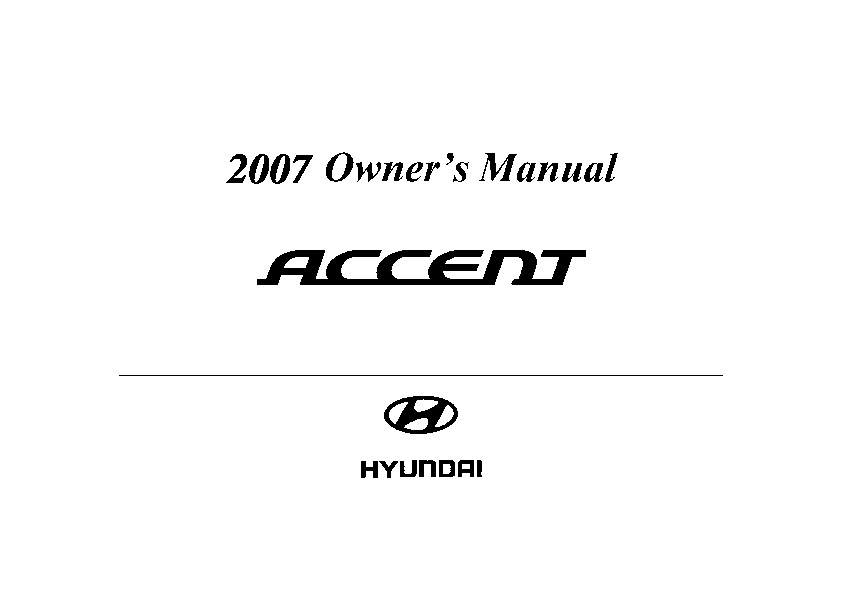 2007 hyundai accent owners manual pdf