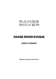 2011 Land Rover Evoque Handbook Manual page 1