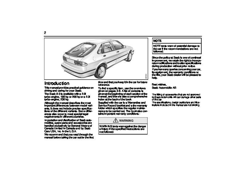 2000 saab 9 3 owners manual rh auto filemanual com 2000 saab 9-3 owner's manual pdf Saab 9-3 Aero