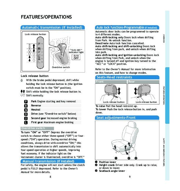 2005 toyota matrix quick reference guide Toyota Tacoma Manual Toyota Manual Interior