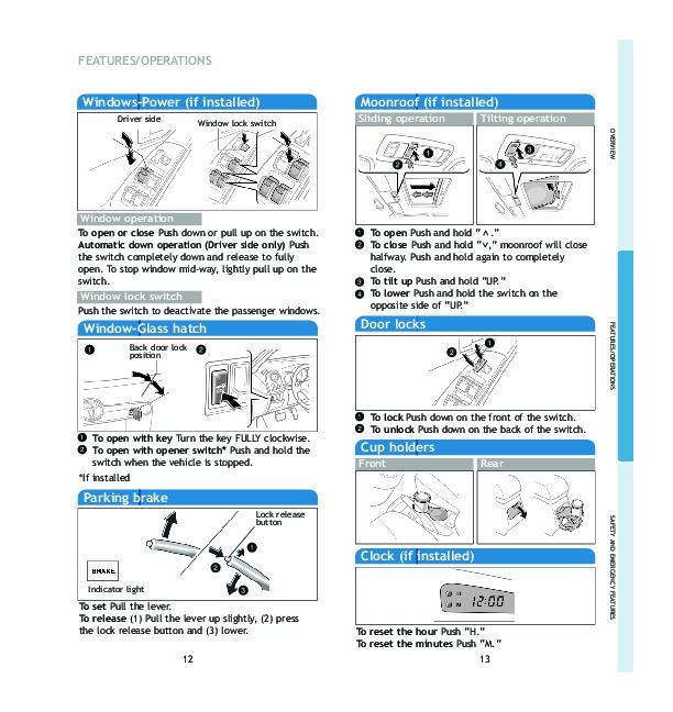 2005 toyota matrix quick reference guide rh auto filemanual com 2012 toyota matrix owners manual pdf 2005 toyota matrix owners manual pdf