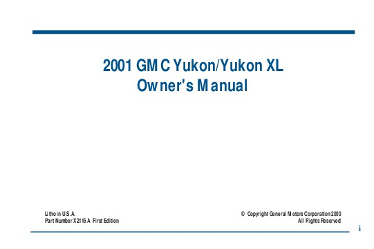 2001 tahoe owners manual daily instruction manual guides 2001 gmc yukon xl owners manual rh auto filemanual com 2001 tahoe owners manual pdf 2001 tahoe owners manual fandeluxe Image collections