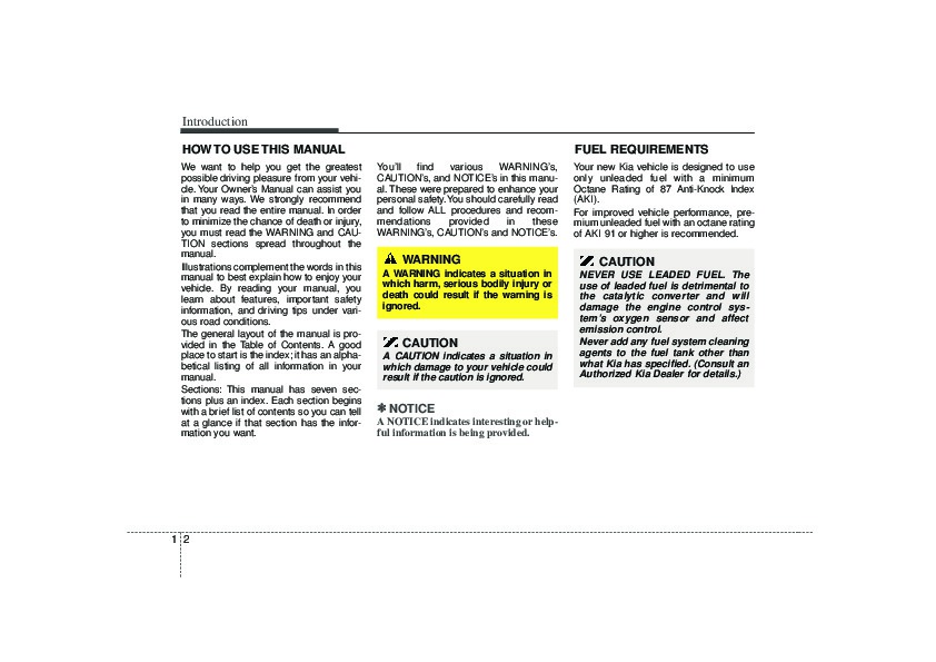 2007 kia sedona owners manual