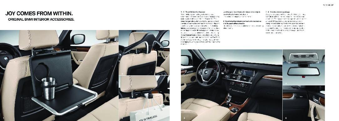 2011 bmw x3 series xdrive28i 35i 30d f25 accessories catalog. Black Bedroom Furniture Sets. Home Design Ideas