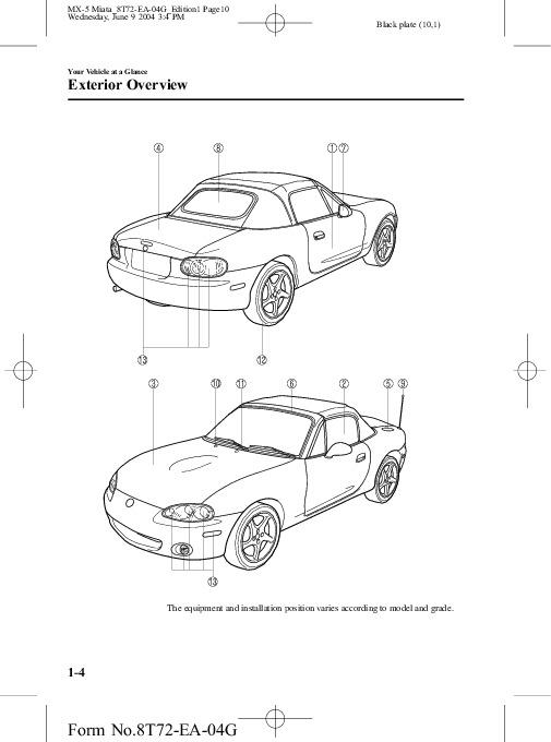 2005 mazda mx 5 miata owners manual rh auto filemanual com 2006 Mazda Miata 2008 Mazda Miata