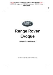 Land Rover Evoque Handbook Owners Manual, 2014, 2015 page 1