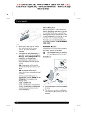 Land Rover Evoque Handbook Owners Manual, 2014, 2015 page 20