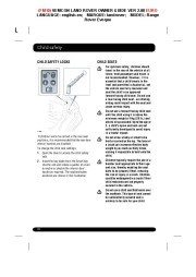 Land Rover Evoque Handbook Owners Manual, 2014, 2015 page 30
