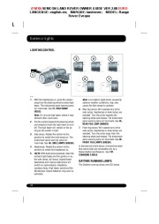Land Rover Evoque Handbook Owners Manual, 2014, 2015 page 48