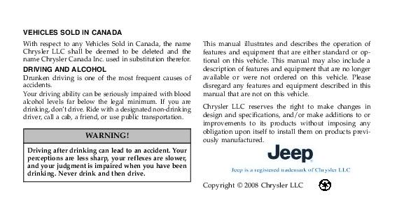 2009 jeep wrangler owners manual rh auto filemanual com 2009 wrangler service manual 2009 jeep wrangler jk owners manual