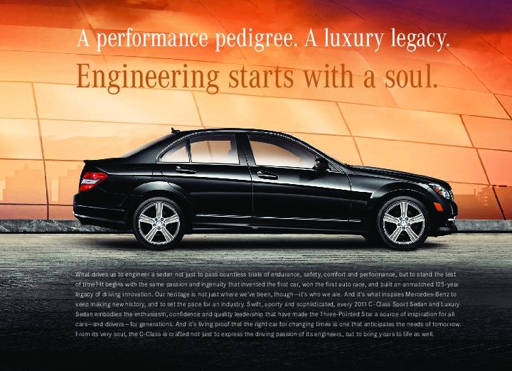 2011 mercedes benz c class c300 c350 4matic c63 amg w204 for Mercedes benz catalog online
