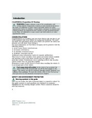 2006 Ford Fusion Owners Manual, 2006 page 4
