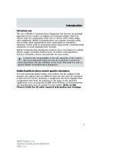 2006 Ford Fusion Owners Manual, 2006 page 7