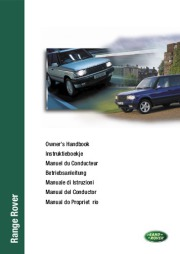 2000 Land Rover Range Rover Export Handbook Manual page 1
