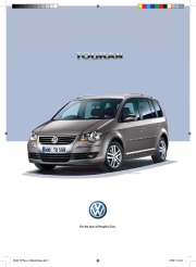 2007 Volkswagen Touran VW Catalog page 1