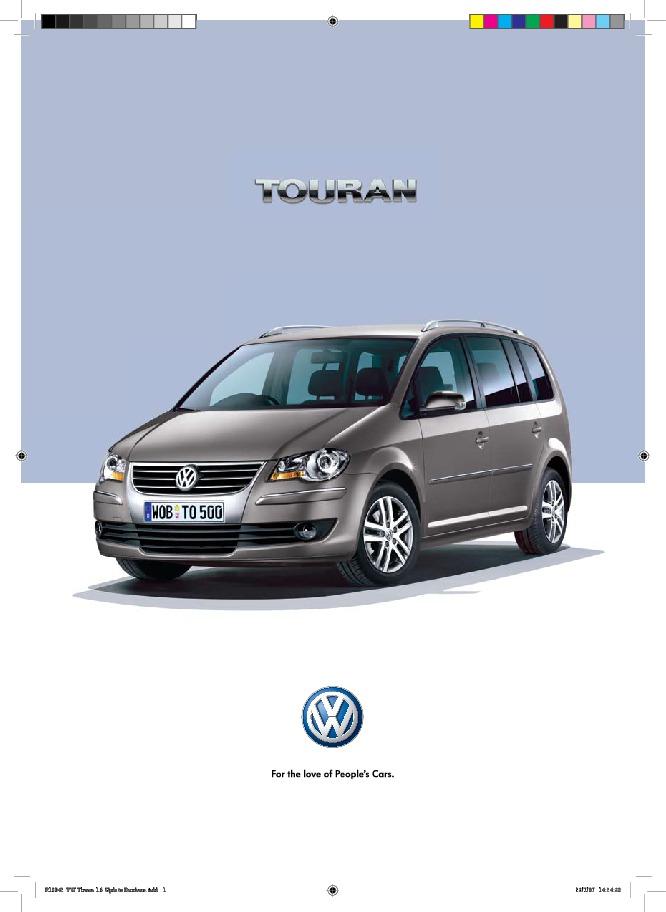 2007 volkswagen touran vw catalog rh filemanual com Instruction Manual Template Help Guide