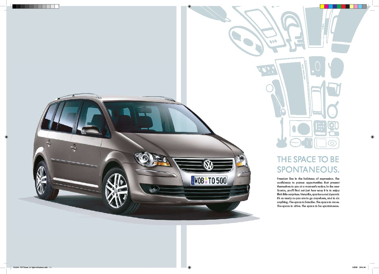 2007 volkswagen touran vw catalog. Black Bedroom Furniture Sets. Home Design Ideas