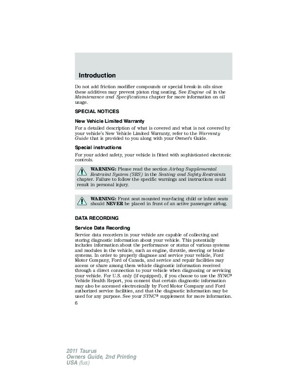 2011 ford taurus owners manual rh filemanual com 2010 ford taurus owners manual pdf 2010 ford taurus owners manual