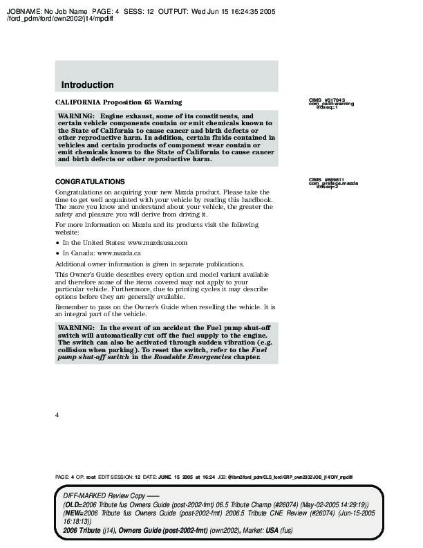 2006 mazda tribute owners manual rh filemanual com 2002 Jeep Wrangler Manual 2002 Hyundai Sonata Manual