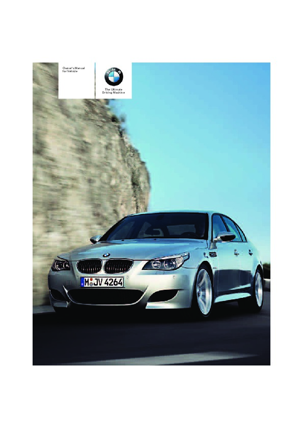 2008 bmw 5 series m5 e60 owners manual rh auto filemanual com 2008 bmw e60 m5 owners manual 2006 bmw e60 m5 owners manual
