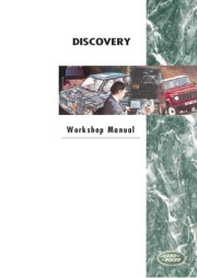 Land Rover Discovery Workshop Manual, 1995 page 1