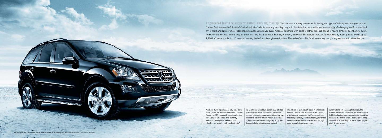 2010 mercedes benz m class brochure ml350 bluetec ml450 for Mercedes benz ml350 2010