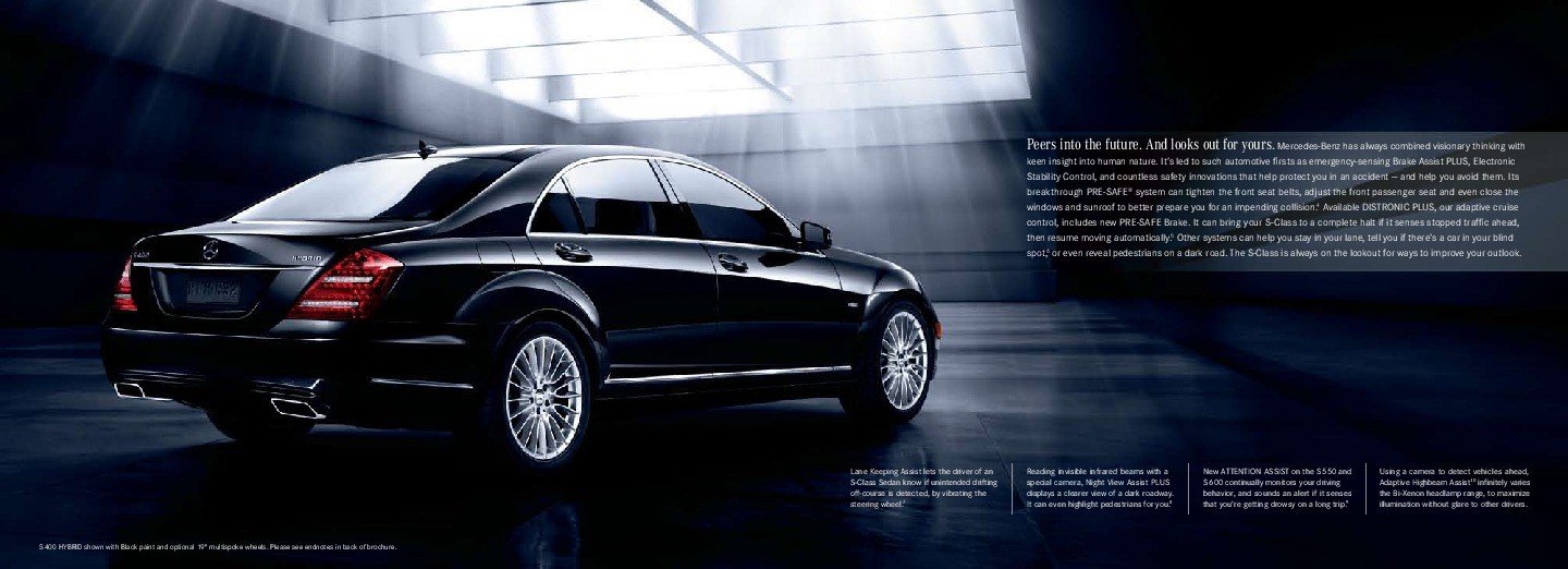 2010 mercedes benz s class brochure s400 hybrid s550 v 8. Black Bedroom Furniture Sets. Home Design Ideas