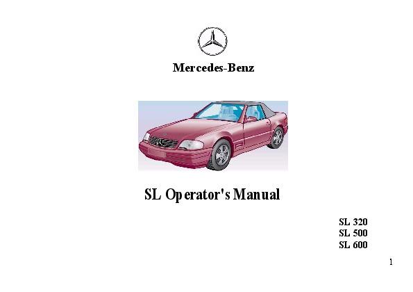 1995 mercedes benz sl320 sl500 sl600 r129 owners manual rh auto filemanual com 1994 mercedes sl320 owners manual mercedes benz sl320 owners manual