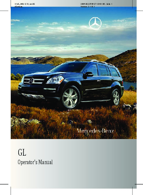 2010 mercedes benz gl350 bluetec gl450 gl500 gl550 x164 owners manual rh filemanual com 2010 Mercedes GL450 Reliability 2012 Mercedes GL450 White