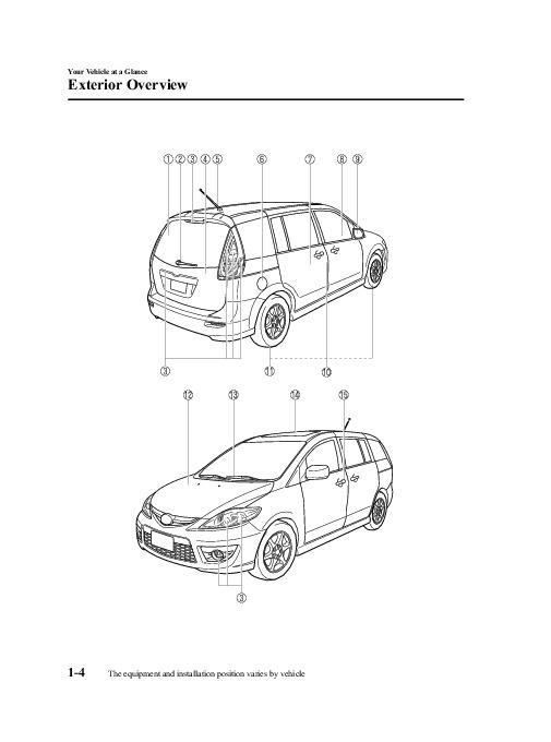 service manual  2010 mazda mazda5 brake fuse manual