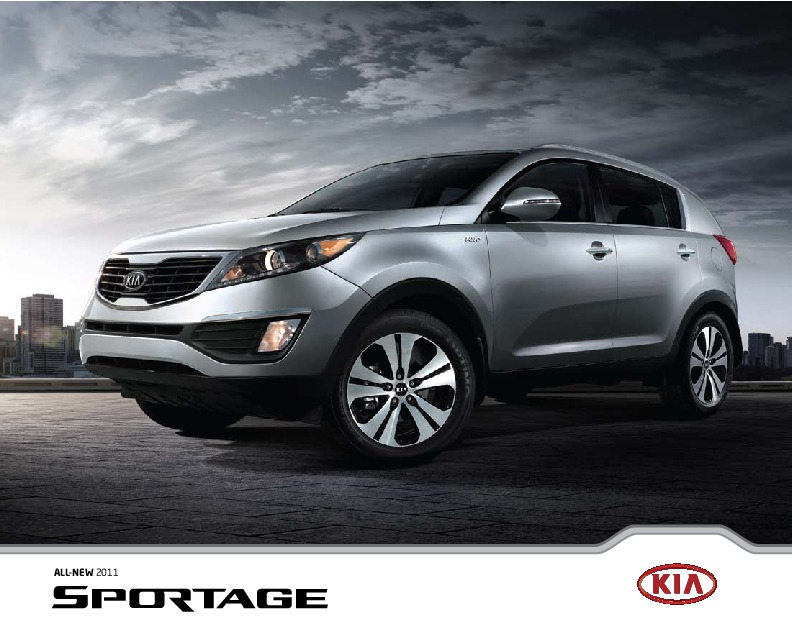 2011 kia sportage brochure. Black Bedroom Furniture Sets. Home Design Ideas