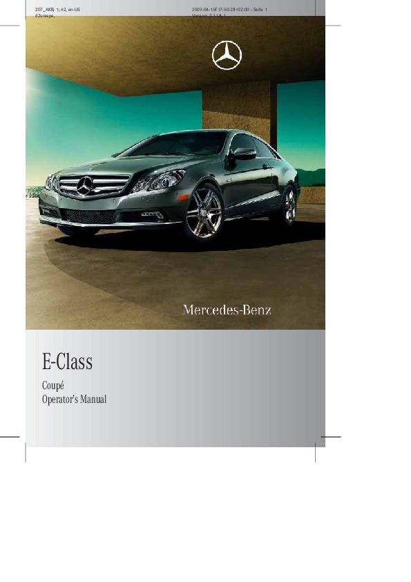 2010 mercedes benz e class coupe operators manual e350 e550 rh auto filemanual com 2010 Mercedes E350 Coupe Interior Trim 2010 Mercedes E550 Coupe Custom
