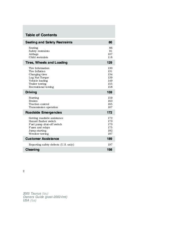 2005 ford taurus owners manual rh auto filemanual com 2005 ford taurus service manual pdf 2005 ford taurus service manual pdf
