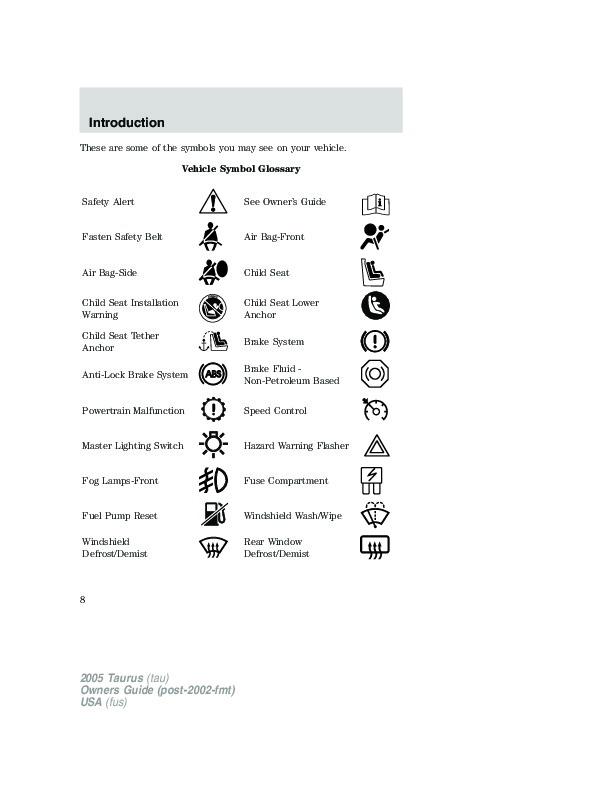 2005 ford taurus owners manual rh auto filemanual com 2002 ford taurus owners manual pdf 2002 ford taurus service manual pdf