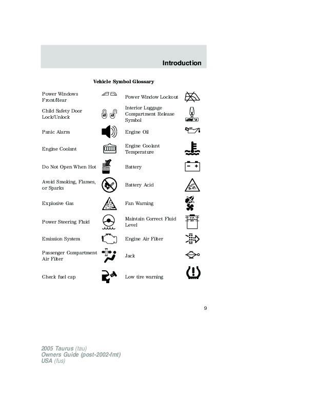 2005 ford taurus owners manual rh auto filemanual com 2005 ford taurus owners manual fuse 2005 ford taurus owners manual pdf
