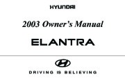 2003 Hyundai Elantra Owners Manual page 1