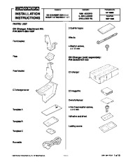 1999 Honda Accord CD Changer Console Mount Kit 08B11-S84-100F 08A06-181-420 Installation Instructions page 1